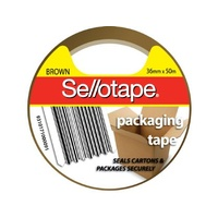 Tape Packaging Sellotape 36x50m Brown 175br - roll