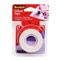 Vellum Tape 005 Scotch 12mmx10m roll Acid free Photo safe 3M