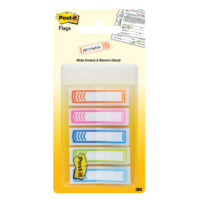 Flags Post it 684-SH-NOTE Arrow Writable Assorted Colours 12x45mm 5 pk 3M