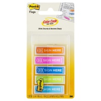 Flags Message Post it 684-SH-OPBLA Sign Here Assorted Colours 12x45mm 5 pk 3M ID 70005255248