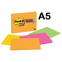 Post it Notes 152x203 6845-SSPL lined Meetings Rio De Janeiro pack 4 A5