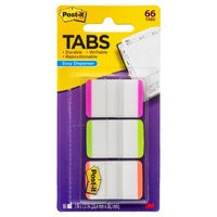 Tabs Post It Durable 25mm 686L-PGO Lined Pink Green Orange 3pk 3M ID 70005016236