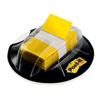 Flags Post it 680-HVYW Desk Grip Yellow Pack 200 - Post-it® Flags 25mm Desk Grip Dispenser