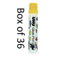 Pen style Glue 50ml Non Toxic Clear box 36 UHU 40180 Ships Victoria Only