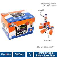 Glue Stick Elmers  7g Blu Stik box 30 goes on Purple dries clear