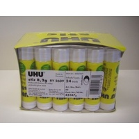 Glue Stick UHU  8g White box 24 # 00060 45189