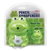 Pencil Sharpener Frog Set Yellow and Green, green show in image - assorted colours