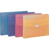 File Wallet A4 PP Deli Assorted colours - each #5570