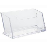 Business Card Stand Acrylic Deli 7623 clear plastic