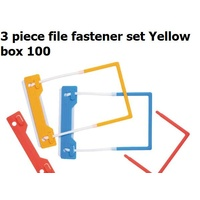 Tubeclips Fasteners box 100 Yellow Marbig 7088005 3 piece file * not available queensland