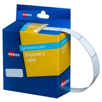 Label dispenser box 10x24mm x1200 Avery 937206 DMR1024W 1200 per box white removable