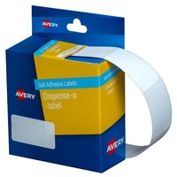 Label dispenser box 19x36mm Avery 937217 DMR1936W Avery Label Rectangle White Dispenser Pack 450 Labels
