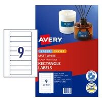 9up Labels Laser Inkjet Data Cartridge 959034 Avery  9 per sheet L7667 box 25