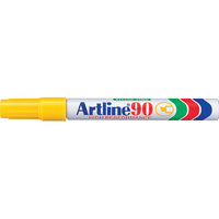 Artline  90 Permanent Markers chisel Yellow Box 12