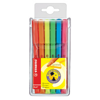 Highlighter Stabilo Flash Assorted 555/4 Wallet 4 Two Line Widths- 1 + 3.5 Mm