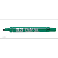 Markers Pentel N60D Perm Chisel Point Green Box 12