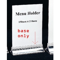 Menu holder M150 A5 BASE ONLY 45378 - each