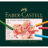 Pastel crayon Polychromos box of 24 128524 faber