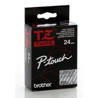 Brother TZ 24mm X 8m White on Clear TZ-155 P-Touch - each