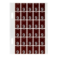 Labels Top Tab Avery 44209 #9 Col Code Brown 9 Pack 150