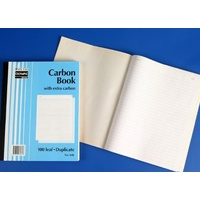 Plain Ruled Carbon Books 10x8 Duplicate 606 07271 - each