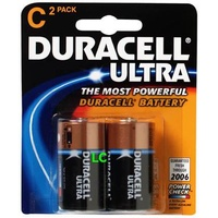 Batteries C 2 Duracell Ultra - pack 2