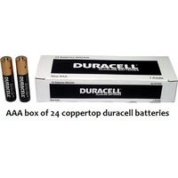 Batteries AAA 24 Duracell Coppertop box 24 Bulk