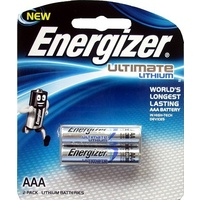 Batteries - AAA - 2 Energizer Lithium L92BP2 AAA - card of 2