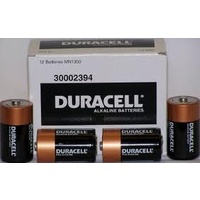 Batteries D 12 Duracell size Coppertop - card of 2 in box of six (12 batteries )