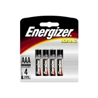 Batteries - AAA - 4 Energizer Max E92BP4 - pack 4