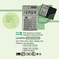 Calculator  8 digit Canon LS-63TG Pocket Dual Power
