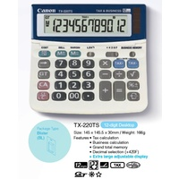 Calculator 12 digit Canon TX-220TS Desktop TX220 Solar & Battery
