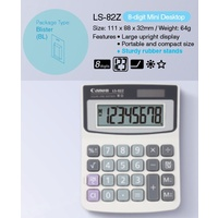 Calculator  8 digit Canon LS-82ZBL DeskTop Solar & Battery