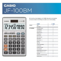 Calculator Casio JF100 Boxed 10 Digit Large Display