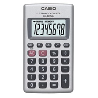 Calculator Casio HL820 8 Digit Wallet Case Large Display