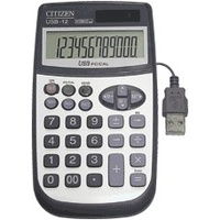 Calculator Citizen USB12 12 Digit With Laptop Connection