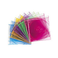 CD Jewel Case Slim Coloured Imation - pack 25
