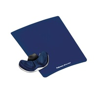 Mouse Pad Gliding Palm Support Gel Lycra Black Fellowes 9180301