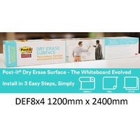 3M Dry Erase Surface DEF8x4 2400x1200mm Post-It