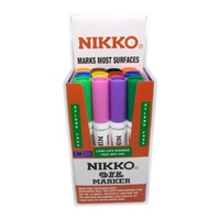 Marker Nikko 1700 Bullet point Permanent ASSORTED BOX 12 oil markers