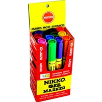 Marker Nikko 1800 Chisel point Permanent ASSORTED BOX 12 oil markers