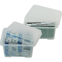 Storage Mobile File Box Italplast 32 Litre CLEAR I307 - each