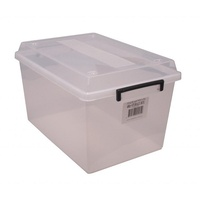 Storage Box Italplast 48 Litre I301 Clear With Lid