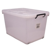 Storage Box Italplast 94 Litre With Rollers I425 Clear