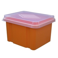 Storage Box Italplast 32 Litre I307 Mandarin Orange