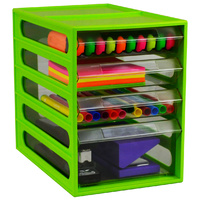 Cabinet 4 Drawer Office Organiser I330 Lime Italplast