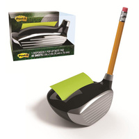 Post it Note POP UP Dispenser 76x76 Golf-330 does not include pencil Golf Club Head Design 330 Black  Silver