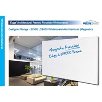 Whiteboard Magnetic LX8000 EDGE   900x1800 PORCELAIN Whiteboard 10-15 days Extra freight applies country areas