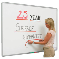 Whiteboard 1200x3000 Porcelain Heavy Duty Magnetic Aluminium Trim PB3012 + EXTRA FREIGHT