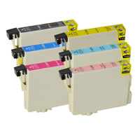 Epson #T0491-T0496 Compatible Inkjet Cartridge Set 6 Ink Cartridges